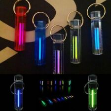 Self Luminous Nite Tritium Glow Ring Keychain Key Fob Night Automatic Light New