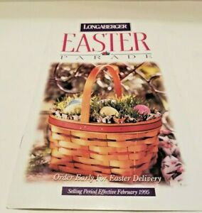 Longaberger EASTER PARADE, FEBRUARY 1995 SALES  FLYER /CATALOGUE-FREE SHIPPING