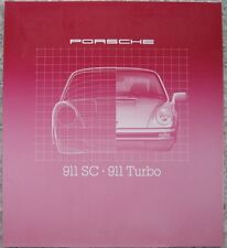 Prospekt Porsche 911SC - 911 Turbo im Grossformat 1980 - 40 Seiten!