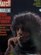 PARIS MATCH N° 1196 JULIEN CLERC MARLENE DIETRICH ELIZABETH II MALAISIE 1972
