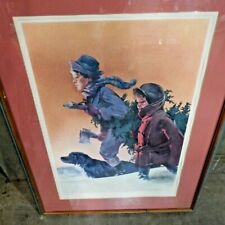 Vintage Norman Rockwell 162/1000 Signed and Embossed Signature #2186