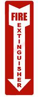 Fire Extinguisher Arrow Emblem Vinyl Decal Window Sticker Car