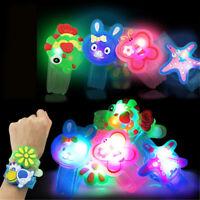 Flashlight LED Wrist Watch Bracelet Toy Cute Cartoon Halloween Xmas Kids CP