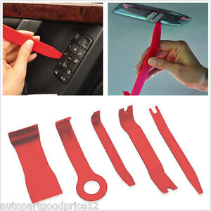 5pc Nylon Car Door Trim Panel Dash Centre Console Install Removal Pry Open Tools