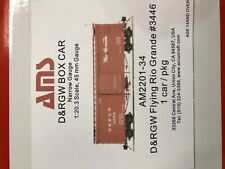Accucraft 1:20.3 D&RGW Box Car#3446