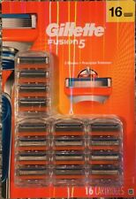 Gillette Fusion5 Disposable Men's Razor Blades Cartridge Refills 16 Count New!!!
