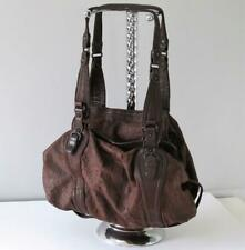Genuine Abaco Paris Luxurious 100% Leather Brown Shoulder / Saddle Bag Purse