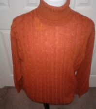 $ 1495 ETRO MILANO 100% CASHMERE TURTLENECK SWEATER HAND MADE IN ITALY XXL