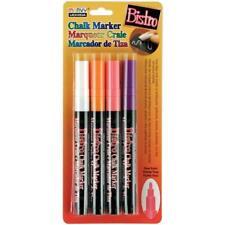 Bistro Chalk Marker Fine Point Set 4 - Free Shipping - White Orange Violet Pink