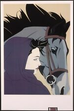 Nagel Patrick MONTANA Rare Lithograph Out of Print Woman & Horse New Art