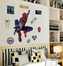LARGE SPIDERMAN WALL ART MURUAL STICKER, BOYS BEDROOM AND PLAYROOM