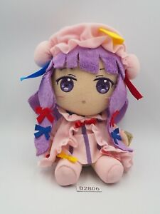 """Touhou Project B2806 Patchouli Knowledge TAITO Prize Plush 7"""" TAG Toy Doll Japan"""