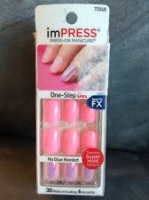 Impress #72048 Special Fx One-Step Gel 30 Nails & 6 Accents - Lady Lane - Read