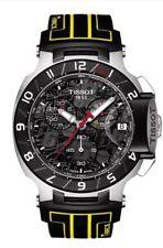 Tissot T-Race Chronograph schwarzes Ziffernblatt Gummi Herren Armbanduhr