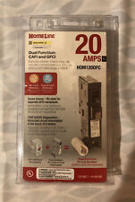 New-Square D Homeline Hom120Dfc 20-Amp Dual Function Cafi/Gfci Circuit Breaker