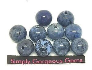 10 Stunning Round Dumortierite Gemstone beads - 10 mm