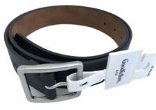 Goodfellow & Co Mens PU Bonded Leather Black Belt Size M 32-36 Silver Buckle New