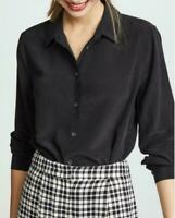 Top Luxury Womens 100% real Silk Mulberry Shirts Formal Dress Shirt Blouse OL