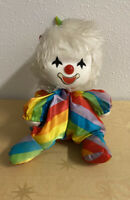 Vintage 1980s Potter Musical Wind Up Clown Doll Moving Head Used No Pompom