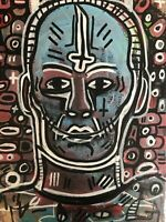 Hasworld Graffiti Original Street Art Painting Pop Painting Abstract Cubism Face