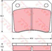 TRW Front Rear Brake Pads Set GDB557 - BRAND NEW - GENUINE - 5 YEAR WARRANTY