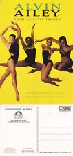 ALVIN AILEY AMERICAN DANCE THEATER ADVERTISING UNUSED COLOUR POSTCARD (a)