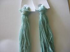 Over-dyed embroidery floss sets;  20yd skeins,  2,  1950's AQUA colors, 40 yards