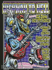 Dirty Donny Highway to Hell Car Show Litho Concert Poster 2008 Transformer Robot