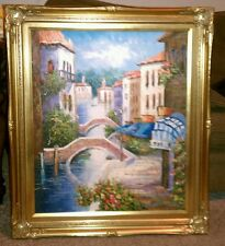 "Venice Italy Tuscany Oil Painting Hand Painted 20"" x 24"" Canvas by ESTERA ORNATE"