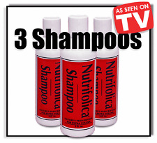 3 NUTRIFOLICA HAIR GROWTH SHAMPOO saw palmeto & no loss Minoxidil side effects
