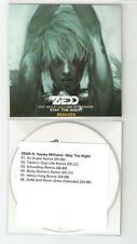 ZEDD FT HAYLEY WILLIAMS / PARAMORE 'STAY THE NIGHT' NEW 6 REMIX CD PROMO +TIESTO