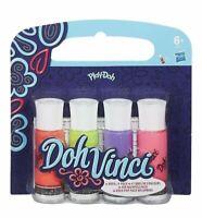 Play-Doh Doh Vinci Decoración Pop 4 Pack Recambio Tubos - Colores Varían -