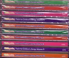 LITTLE GENIUS Favorite Children's Songs 10CD Lot Classic Greatest CLEMENTINE `