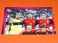 283 EQUIPE TEAM PART 1 ESPAGNE ESPAÑA  FOOTBALL PANINI UEFA EURO 2012