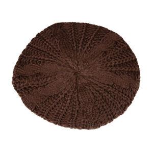 Women Fashion Warm Winter Knit Crochet Beret Braided Baggy Beanie Hat Cap