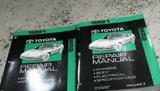 1991 Toyota MR2 MR 2 Service Repair Workshop Shop Manual Set