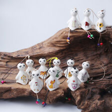 Hanging porcelain wind chimes outdoor bells garden home decoration sunny dolls X