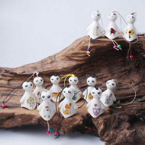 Hanging porcelain wind chimes outdoor bells garden home decoration sunny doll&ZY