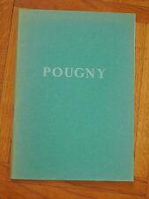 JEAN POUGNY. catalogue d'exposition. Musée d'Art Moderne, Paris. 1958