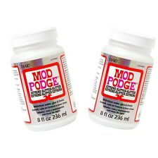 2 X 236ml Mod Podge Glue Waterbased Matte- Sealer Finish Modge Non-toxic Craft
