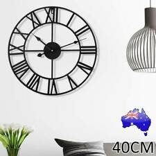 Large Roman Wall Clock Big Numeral Giant Round Face Outdoor Garden 40cm Silent N