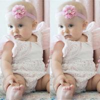 Newborn Baby Girl Clothes Floral Outfits Set Lace Jumpsuit Romper Playsuit LOT