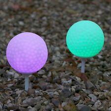 Set de 2 Résistant aux intempéries Allumer Balles De Golf Couleur Changeante Led