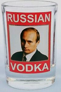 President Russia Vladimir Putin RUSSIAN VODKA 55ML shooter shot glass handmade#1