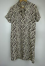 MARNI for H&M Sz 4, AU8 Shift dress Silk Brown cream print