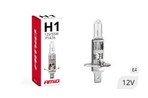 Bombilla H1 Blanca Luz larga cruce 55 W 12 V Homologada CE E4 con filtro UV
