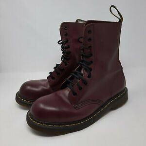 Dr. Martens 1460 10 Eye Boots Cherry Red US Size 10 M 11 L Steel Toe