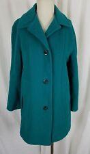 Vintage Kay Boys Herman Kay Green Wool Coat Peacoat Long Jacket Womens S M