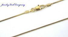 "14K Solid Yellow Gold Diamond Cut Snake Chain 1.1mm  16"" 3.7grams Italian"
