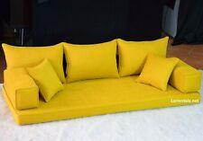 Yellow Floor Sofa Arabic Oriental Set Bohemian furniture Moroccan seating sofa